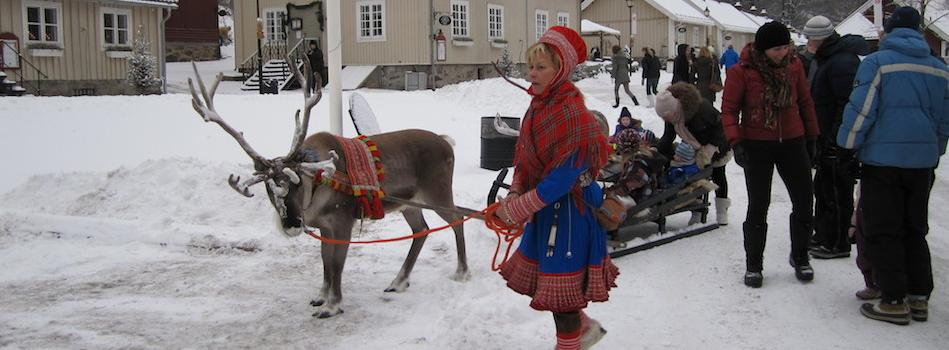 Traditional dress and Reindeer rides