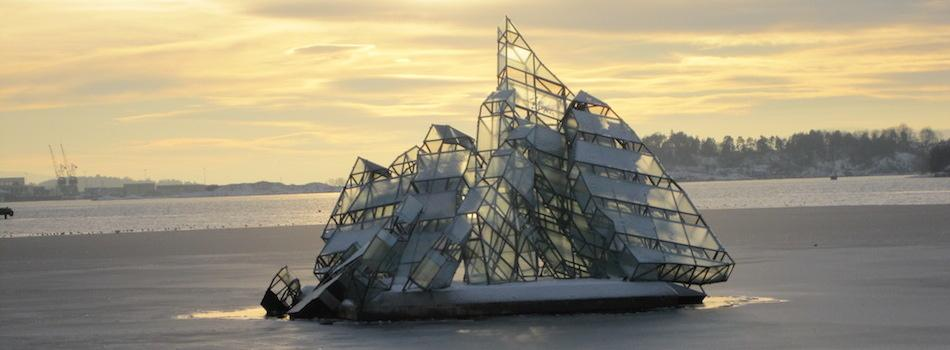 Sculpture by Monica Bonvicin - Oslo Harbour Norway